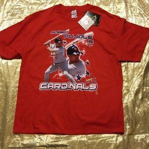 ⭐2/$22 Mens St Louis Cardinals Pujols NWT Tshirt X